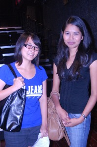 Elrica Tanu (left) and Nawwar Syahirah (right), the scriptwriter and the director respectively.